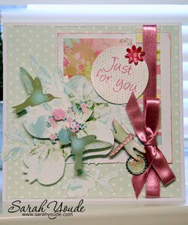 Dragonfly Card - Summer Blooms Decoupage