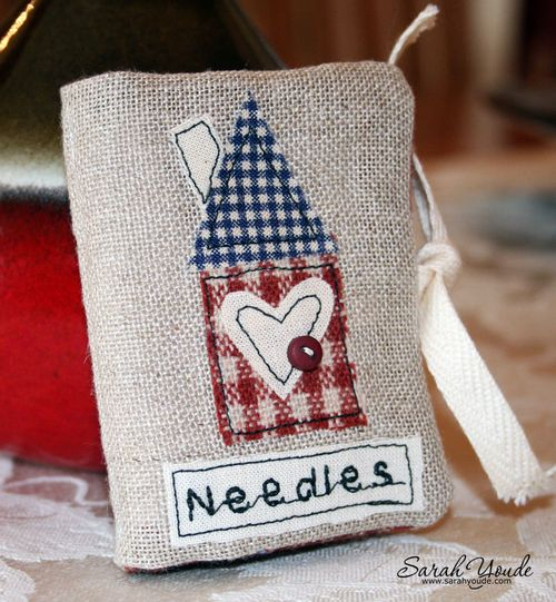House Applique Needle Case