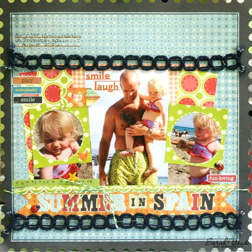 Summer in Spain Layout for Scrapagogo
