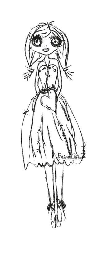 Grungy Ballerina Sample Image