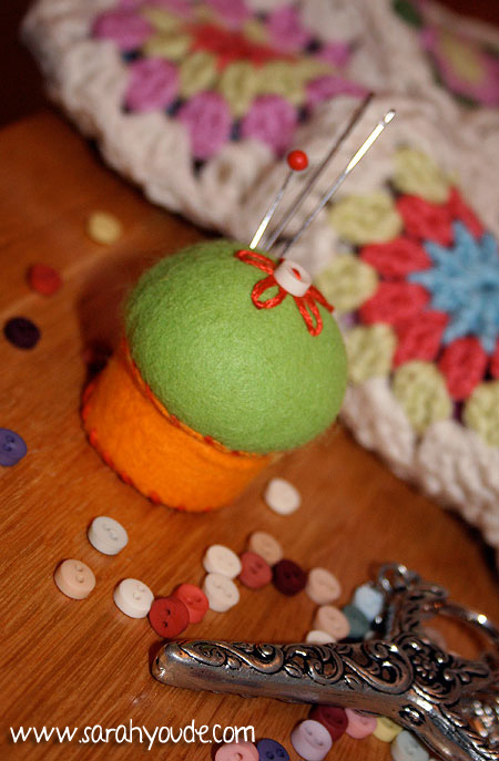Sarah's Bottlecap Pincushion