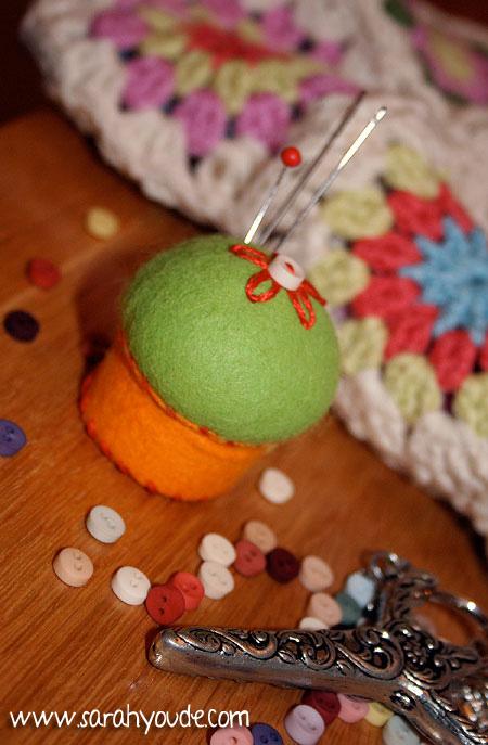 Sarah's Bottlecap Pincushion