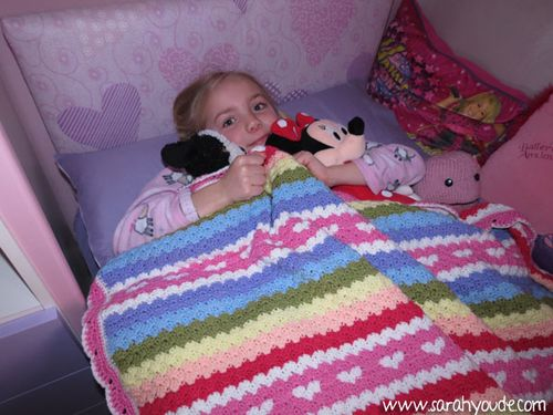 Charlotte with her blanket