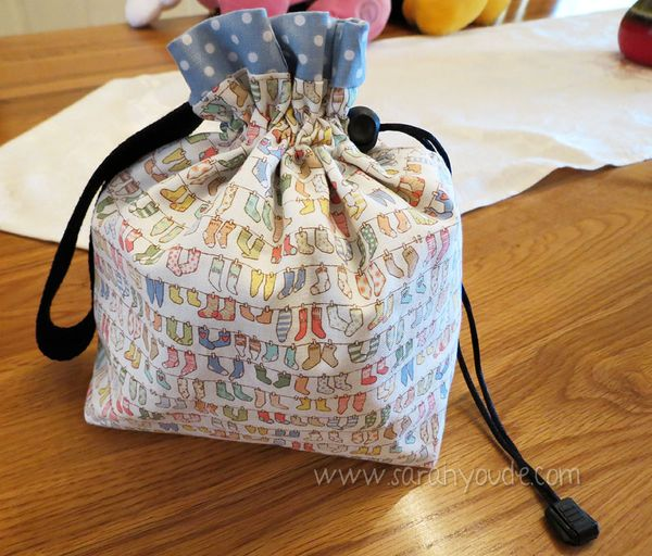 A Dorky Emu Drawstring Project Bag Tutorial