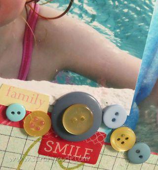 Swim Stars Button Border