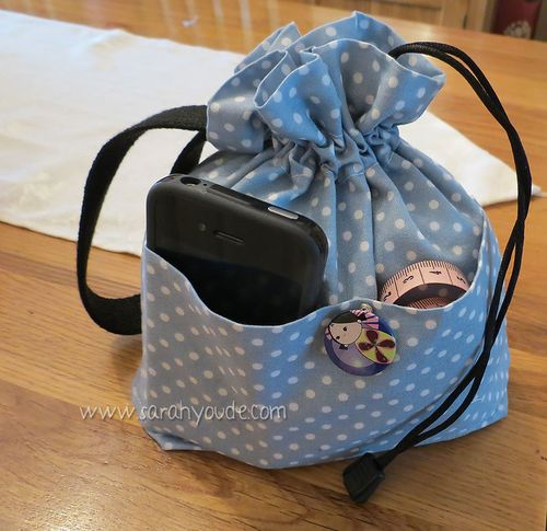 Drawstring Bag - Inside Out!