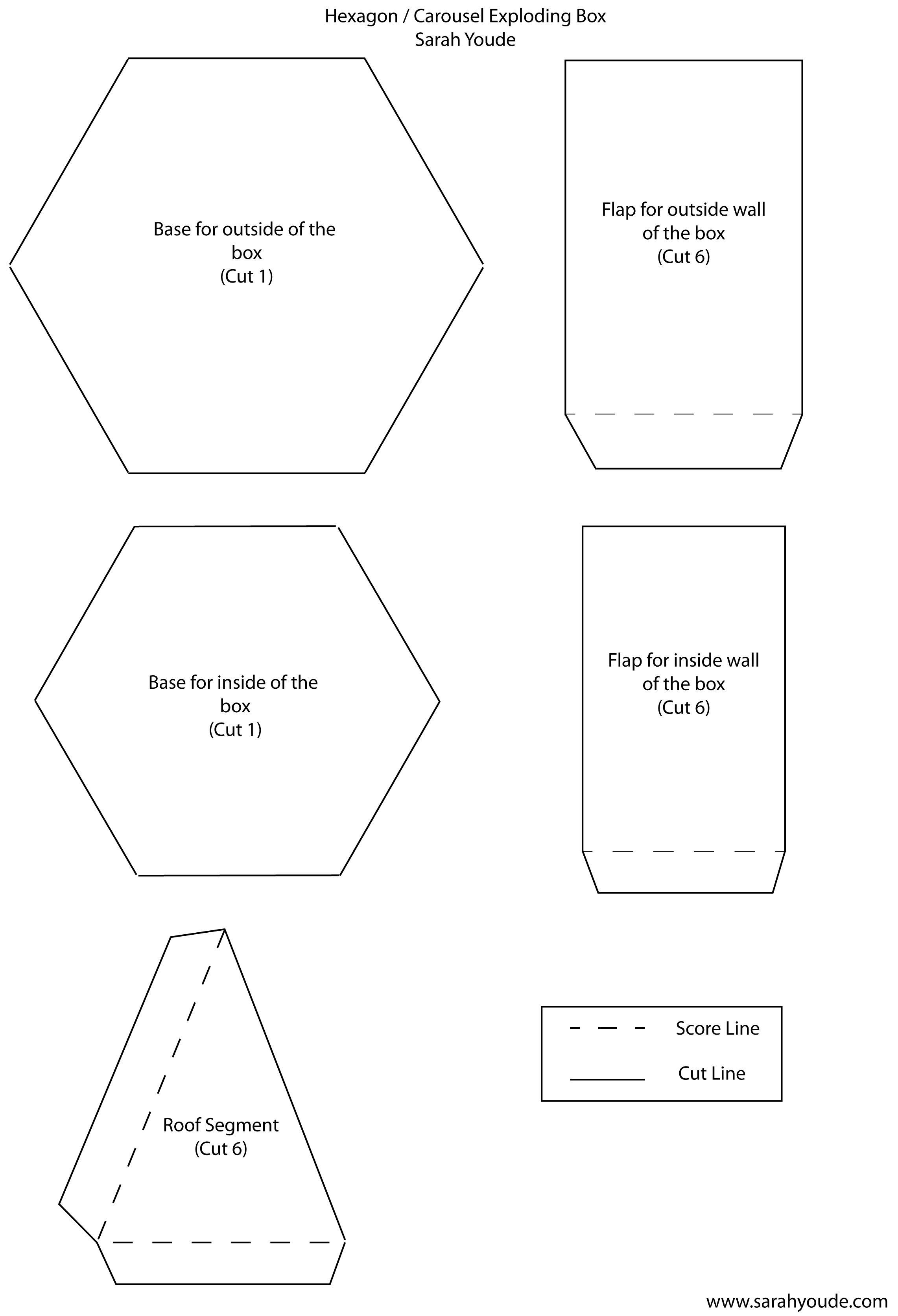 exploding box card template .